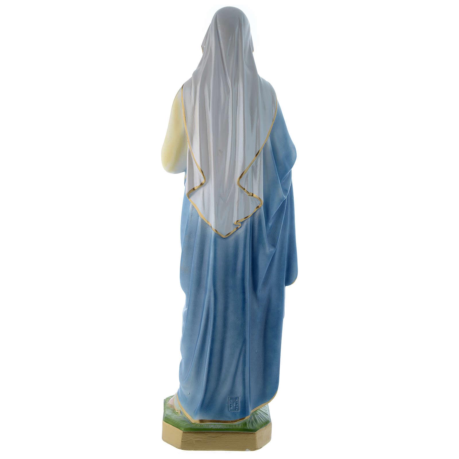 Statua Sacro Cuore di Maria 60 cm gesso madreperlaceo 4