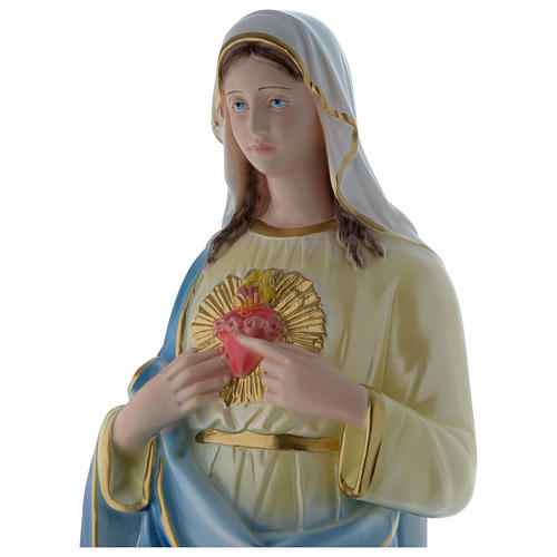 Statua Sacro Cuore di Maria 60 cm gesso madreperlaceo 2