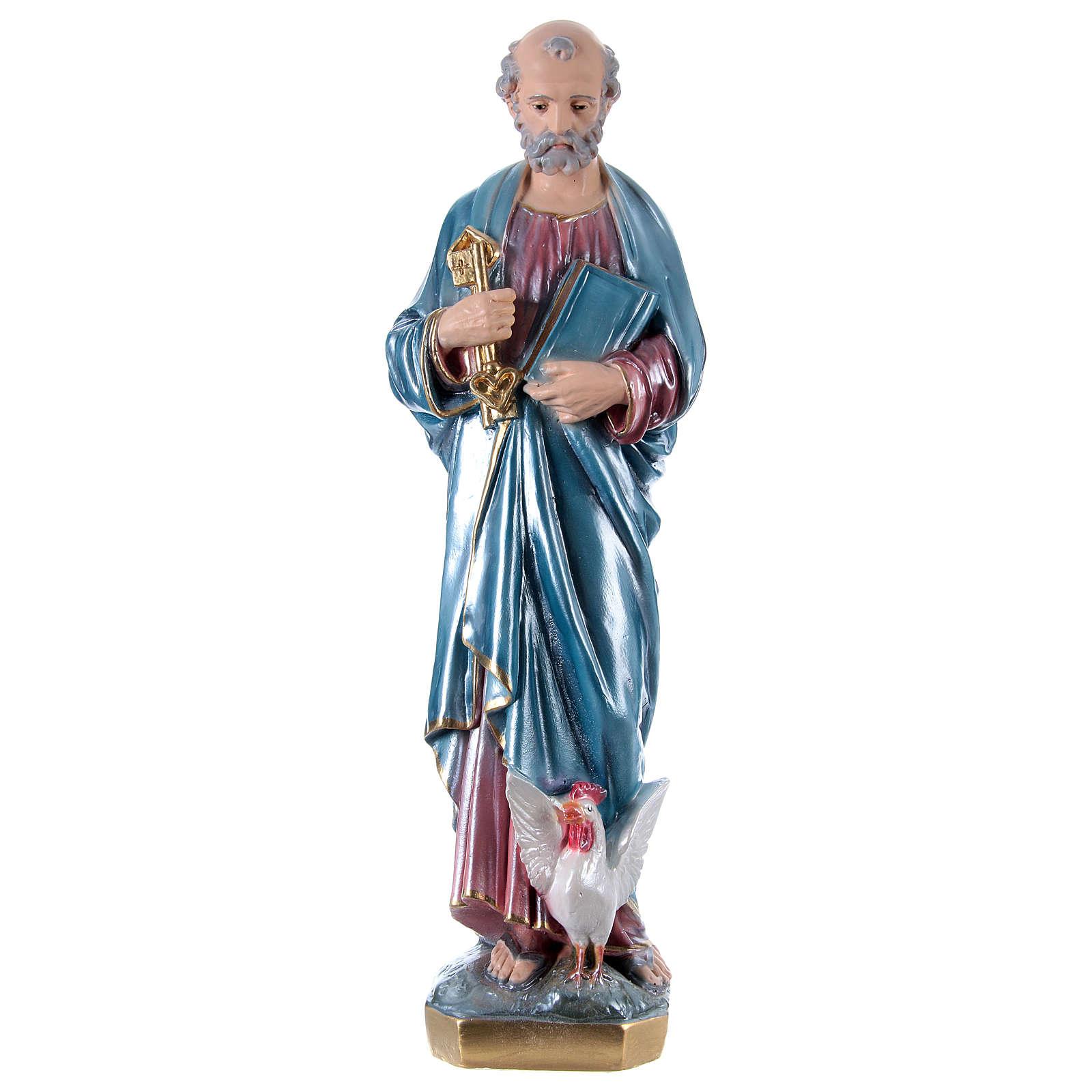 Estatua de yeso San Pedro 60 cm 4