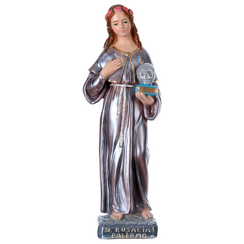 St Rosalie 40 cm in mother-of-pearl plaster 1