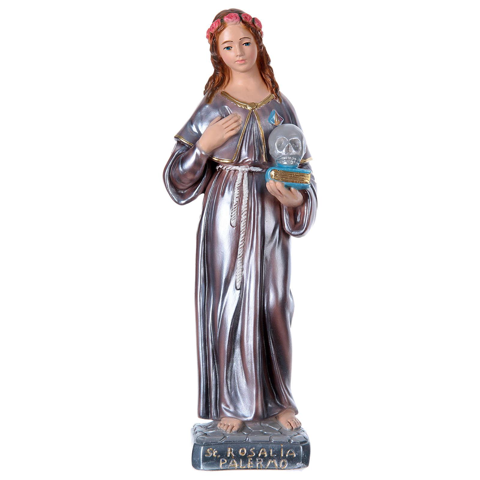 Sainte Rosalie plâtre nacré 40 cm 4