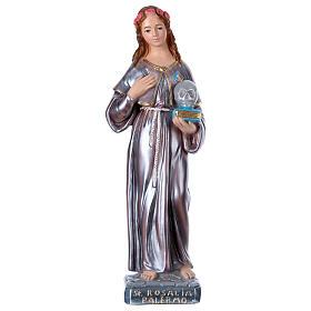 Saint Rosalie, pearlized plaster statue 40 cm s1