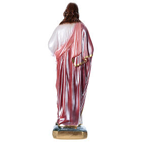 Sacred Heart of Jesus 40 cm in mother-of-pearl plaster s4