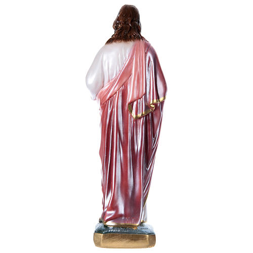 Sacred Heart of Jesus 40 cm in mother-of-pearl plaster 4