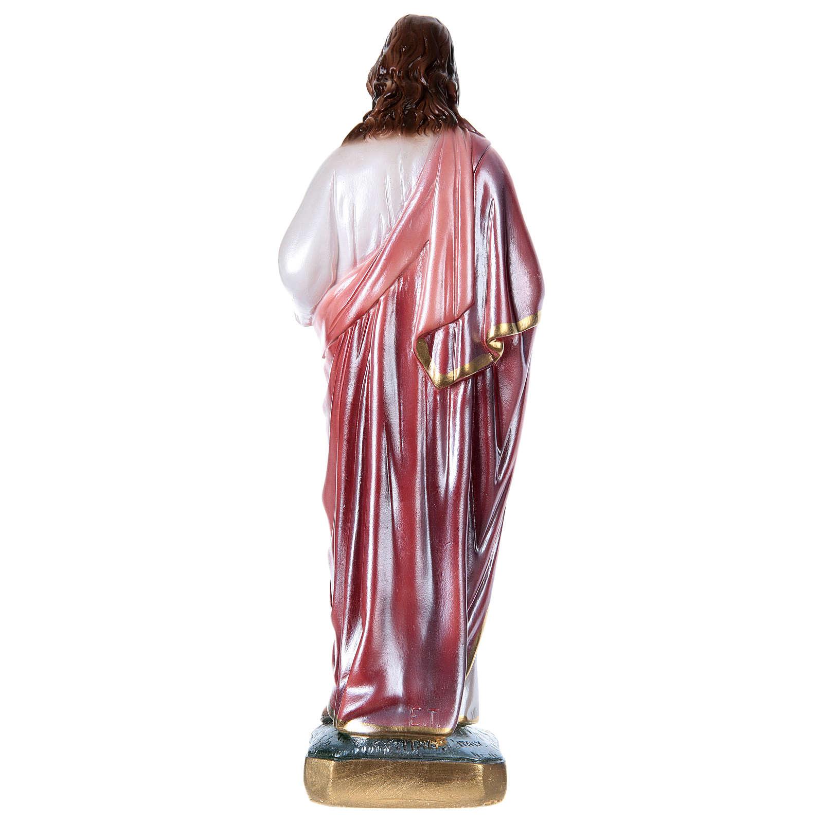 Sagrado Corazón de Jesús 40 cm yeso nacarado 4