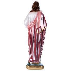 Sagrado Coração de Jesus 40 cm gesso efeito madrepérola s4