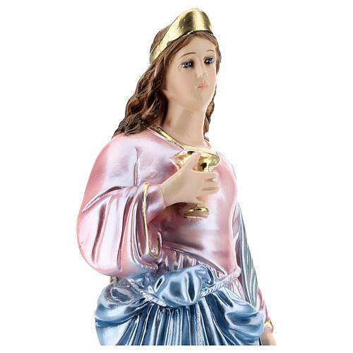 Sainte Lucie 40 cm plâtre nacré 2
