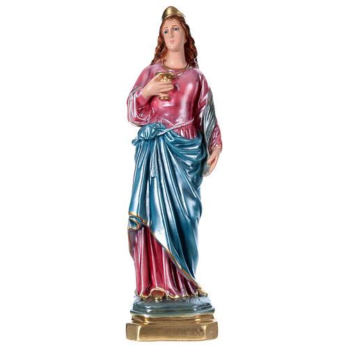 Santa Lucia 40 cm gesso madreperlato  1