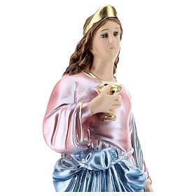 Święta Łucja 40 cm gips perłowy s2