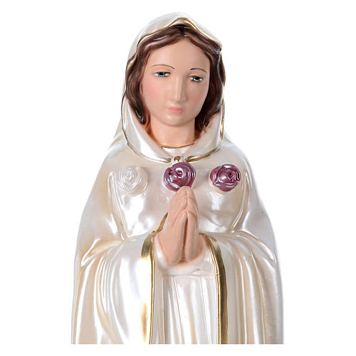 Estatua de yeso nacarado Santa Rosa Mística 40 cm 2