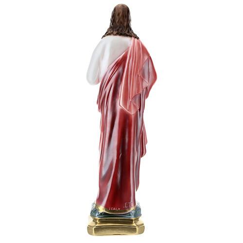 Statua in gesso Sacro Cuore di Gesù 50 cm madreperlato 6