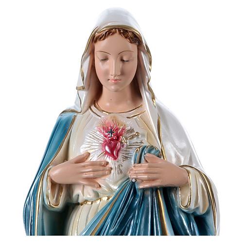 Heiligstes Herz Mariä 50cm perlmuttartigen Gips 6