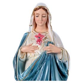 Statue Marie plâtre nacré 50 cm s2