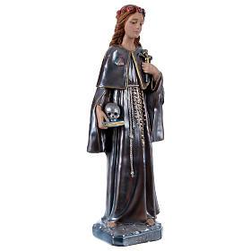 Estatua de yeso nacarado Santa Rosalía 50 cm s4
