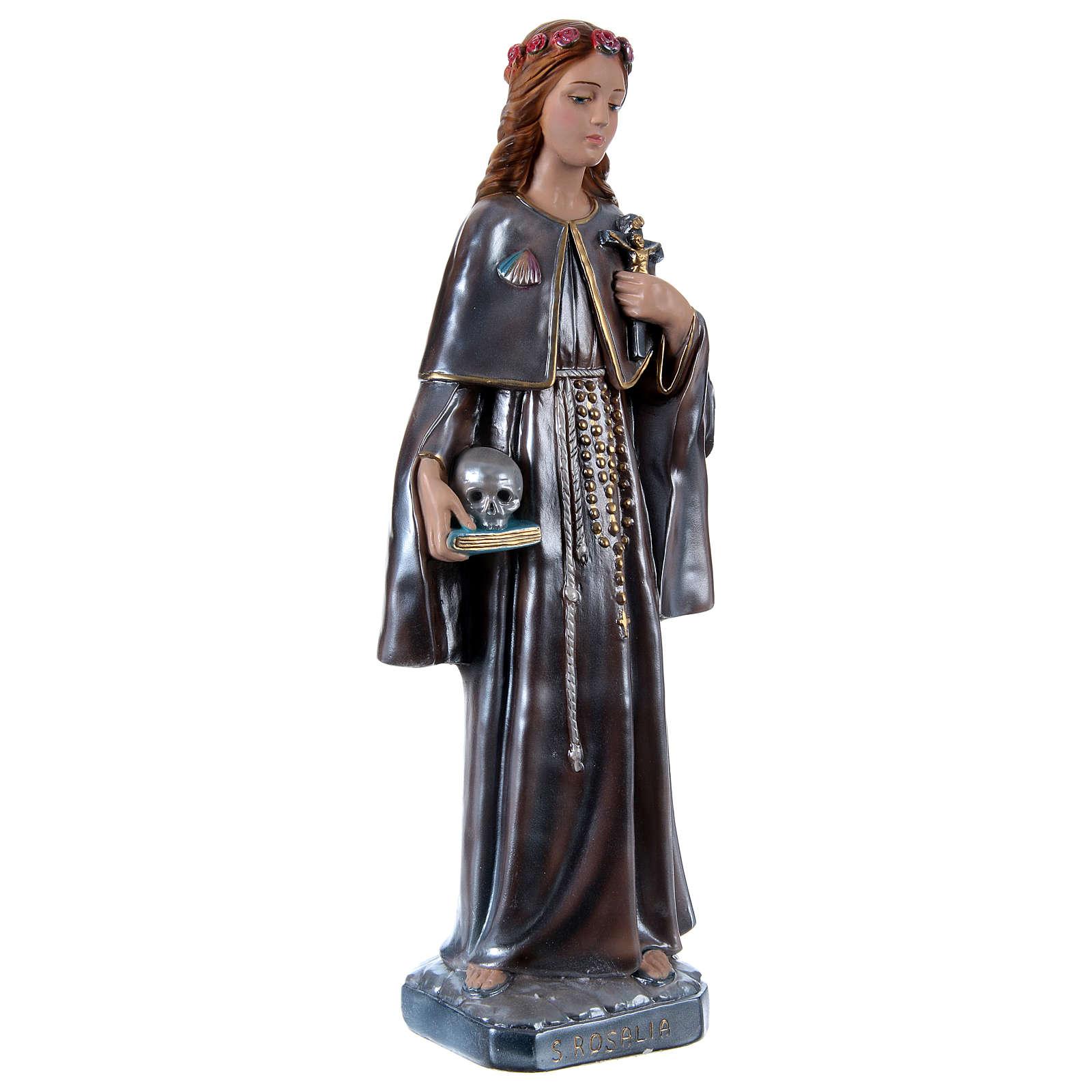 Saint Rosalie, plaster statue 50 cm 4