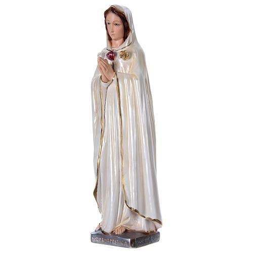 Statue Marie Rose Mystique en plâtre nacré 50 cm 3