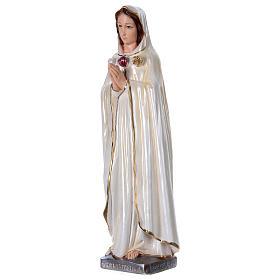 Santa Maria Rosa Mistica in gesso madreperlato 50 cm s3