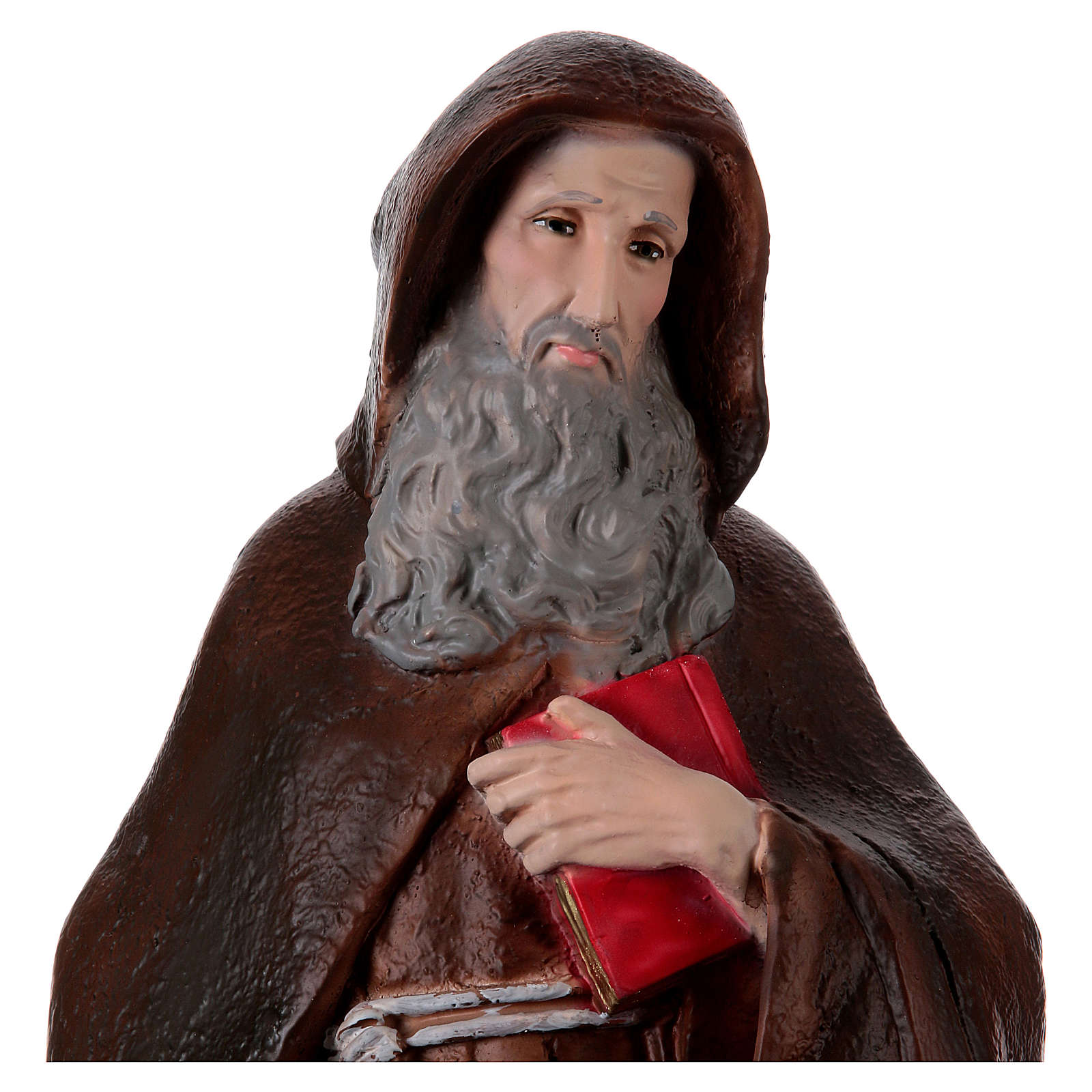 Saint Anthony the Abbot Statue, in plaster, 60 cm 4