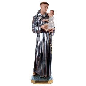 Statue en plâtre Saint Antoine nacré 60 cm s1