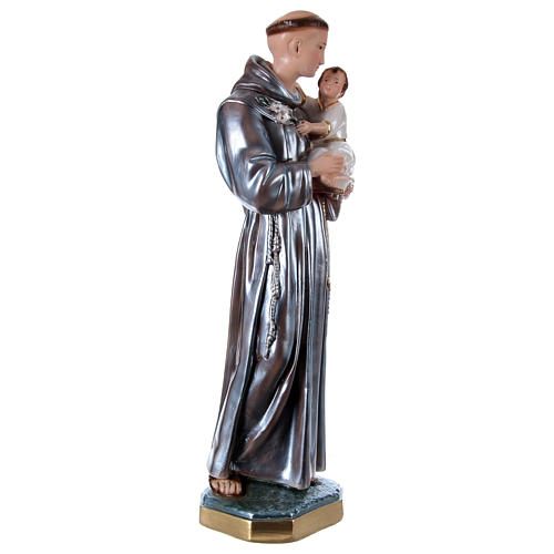 Statue en plâtre Saint Antoine nacré 60 cm 4