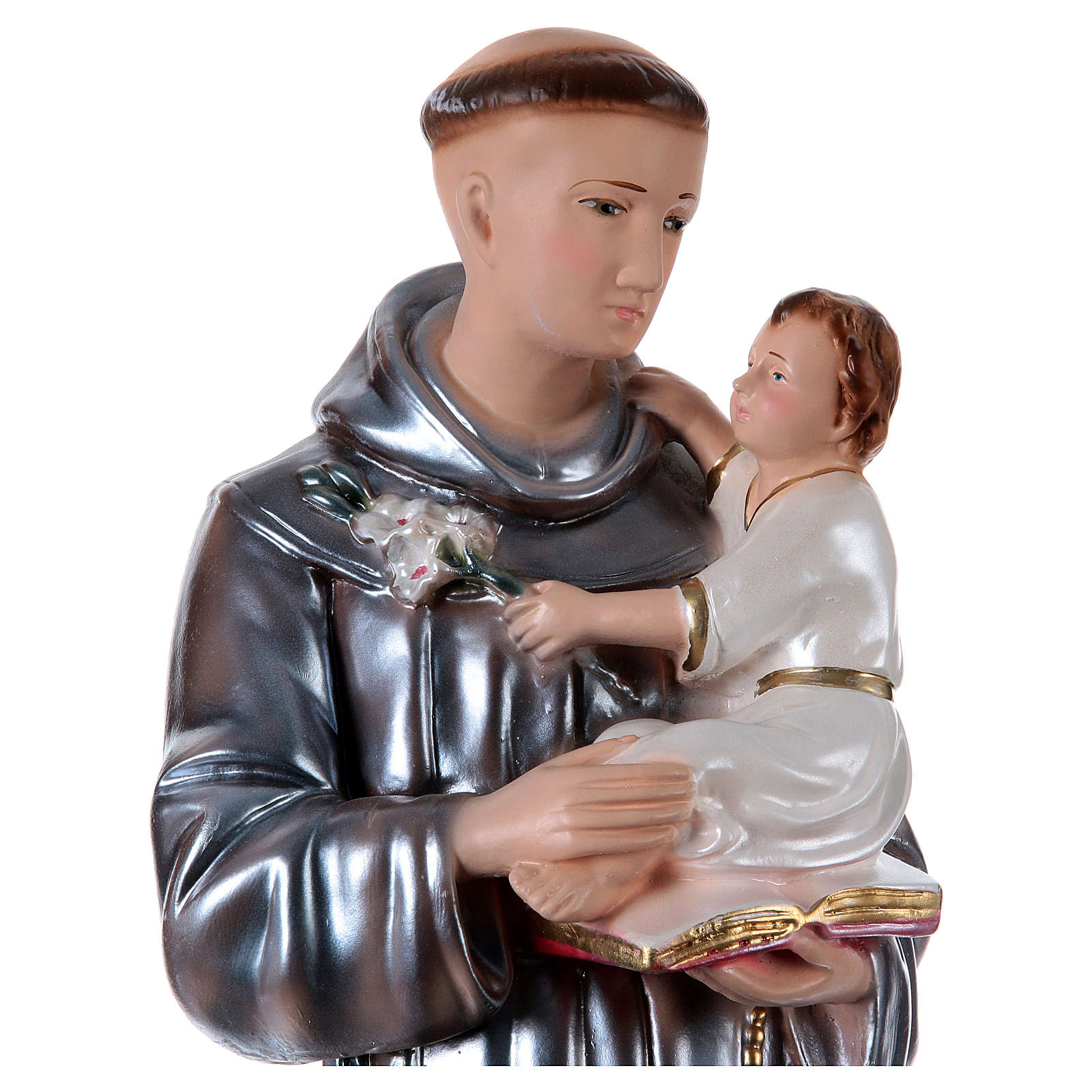 Statue in gesso Sant'Antonio madreperlato 60 cm  4