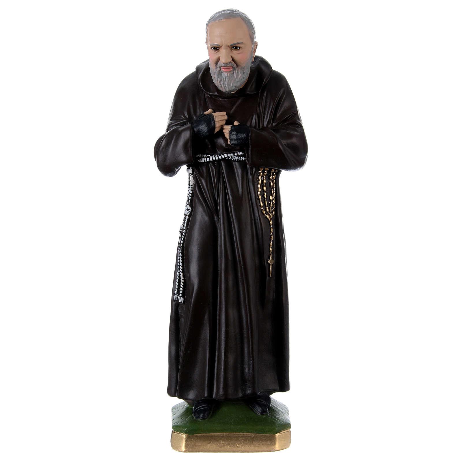 Estatua Padre Pío 55 cm yeso 4