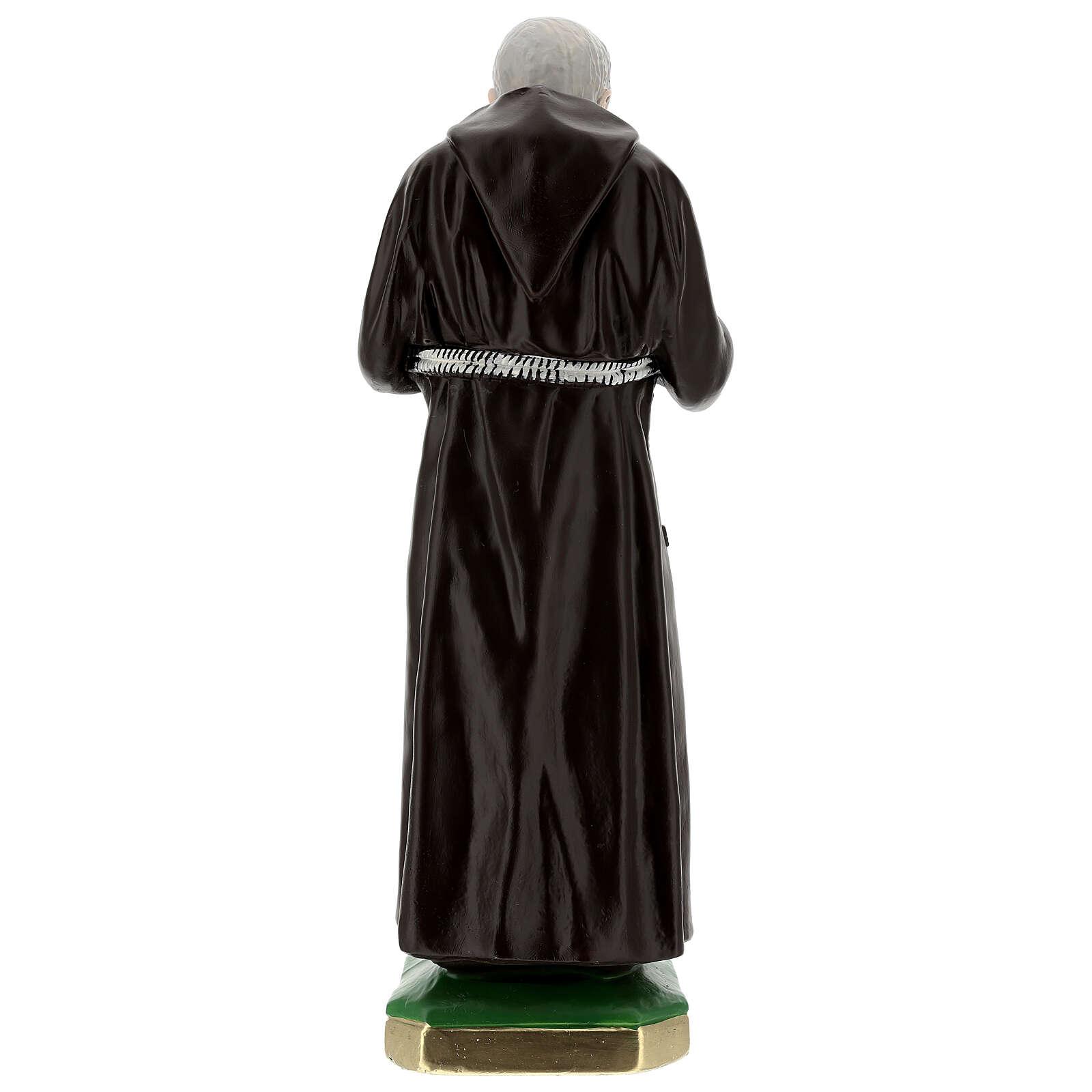 Statue Padre Pio 55 cm plâtre 4