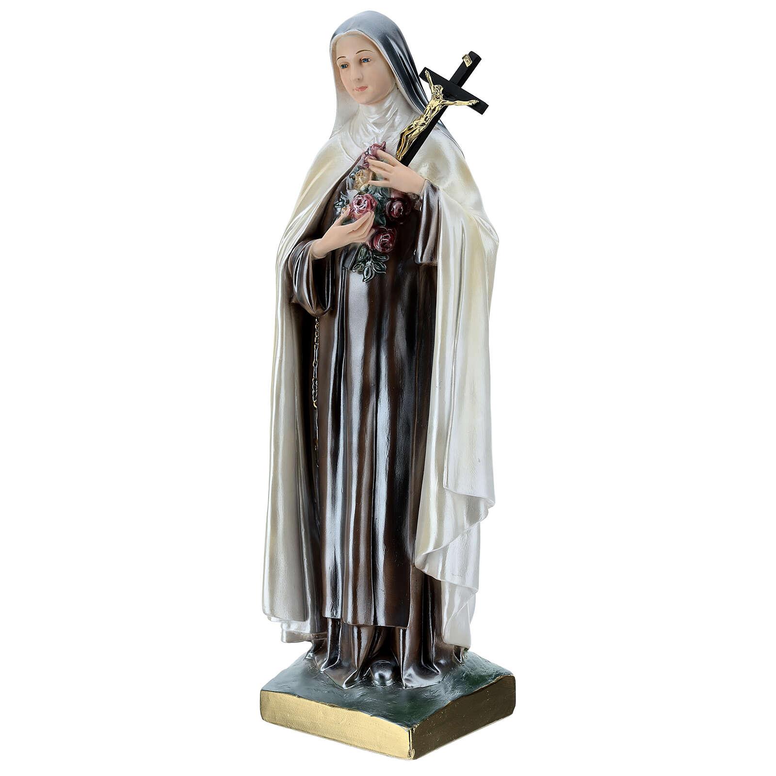 Santa Teresa 60 cm gesso madreperlato 4