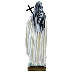Santa Teresa 60 cm gesso madreperlato s5