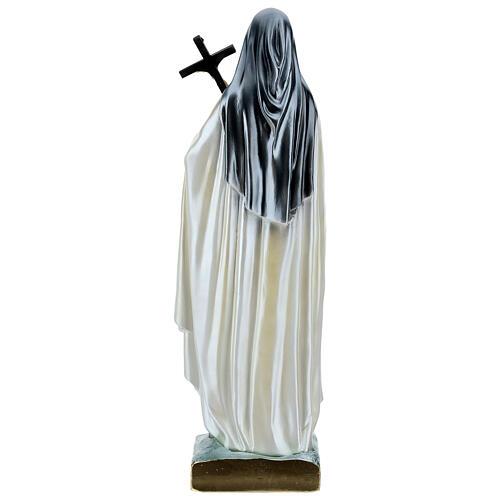 Santa Teresa 60 cm gesso madreperlato 5