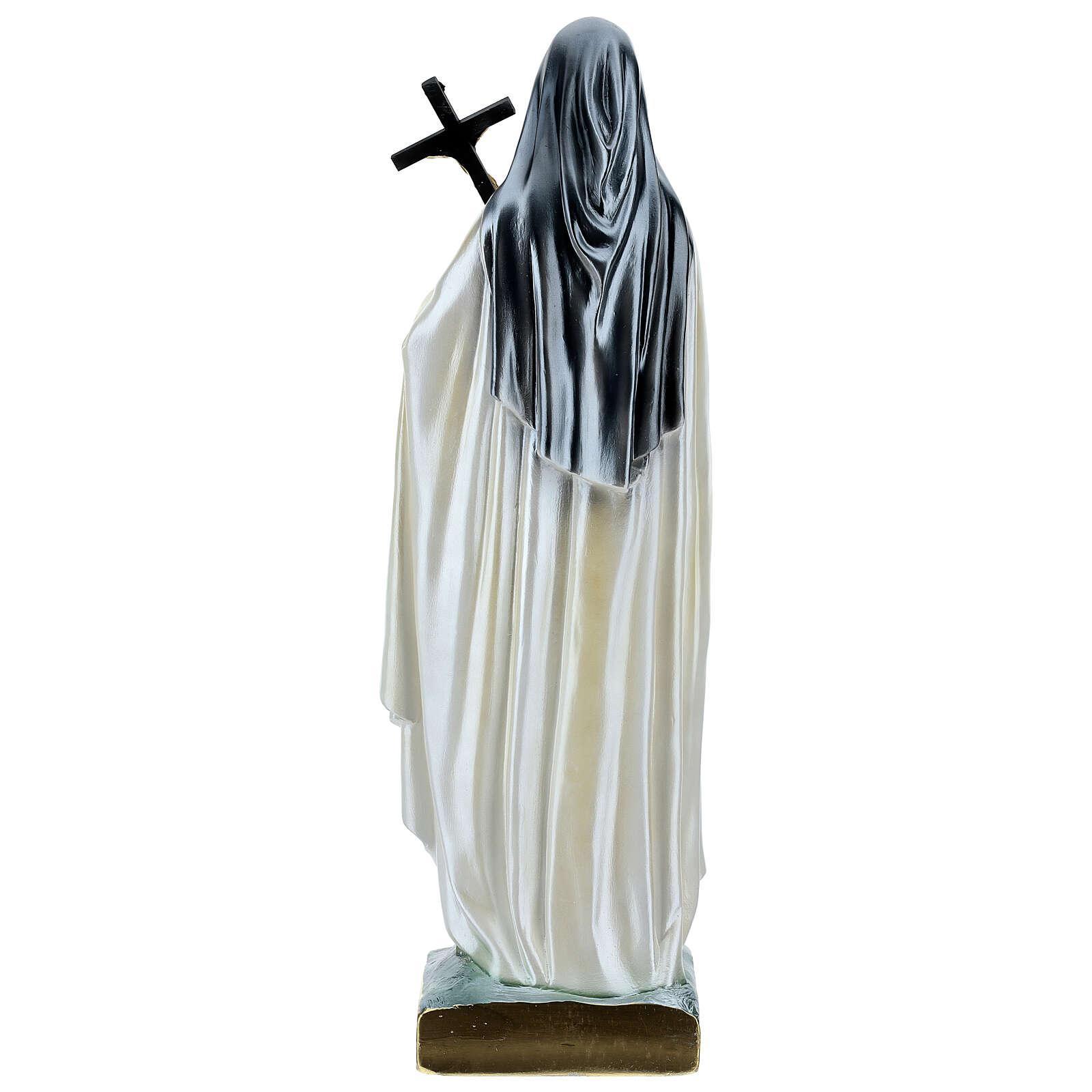 St. Teresa Statue, 60 cm in mother of pearl plaster 4