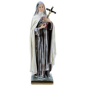 St. Teresa Statue, 60 cm in mother of pearl plaster s1