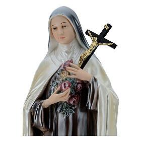 St. Teresa Statue, 60 cm in mother of pearl plaster s2