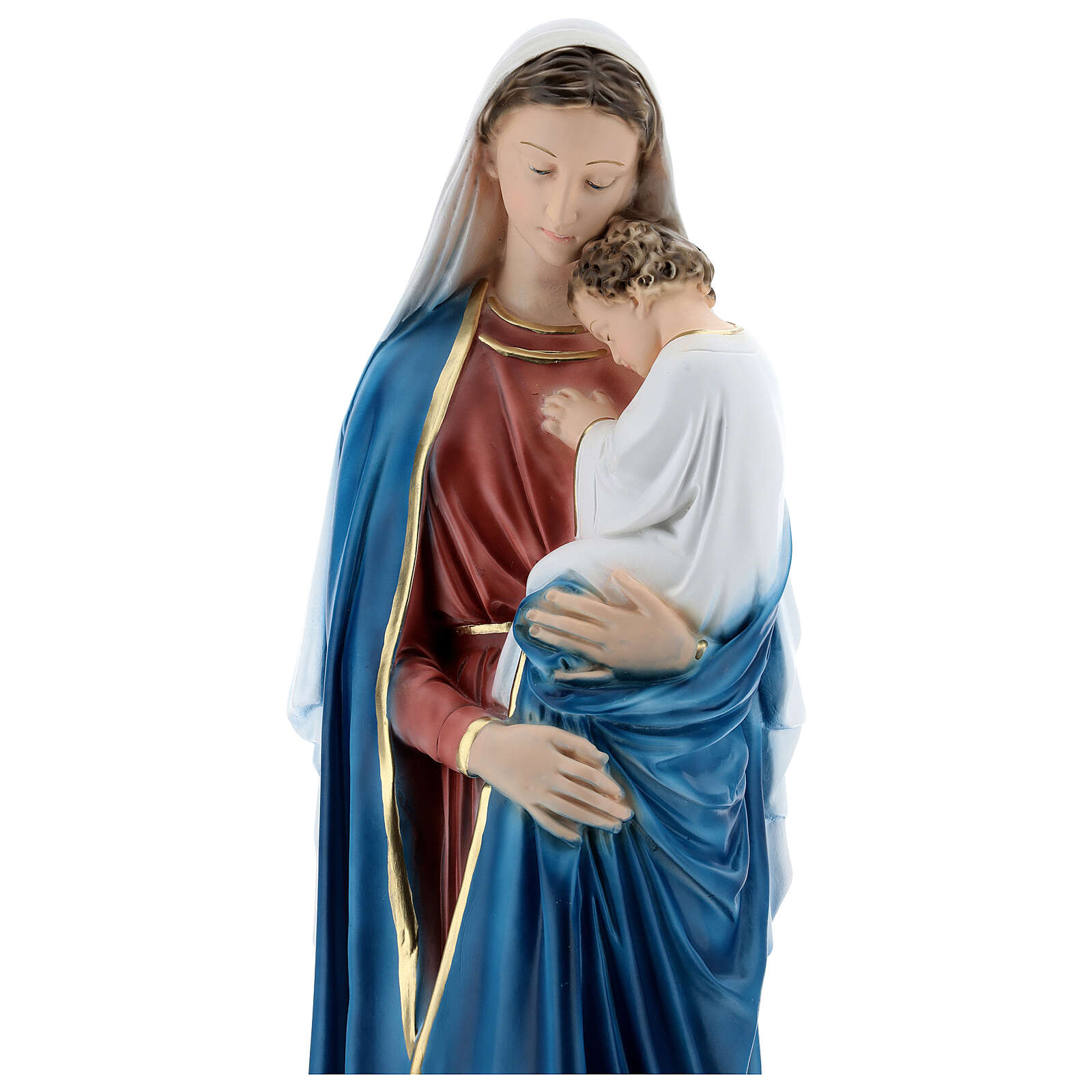 Virgin Mary with child 60 cm in plaster 4