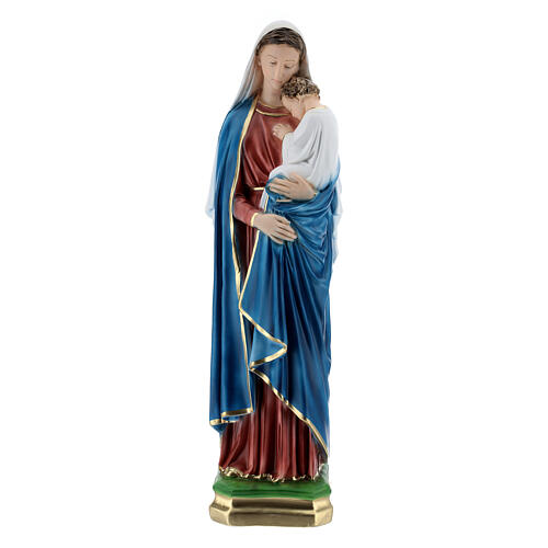 Virgin Mary with child 60 cm in plaster 1