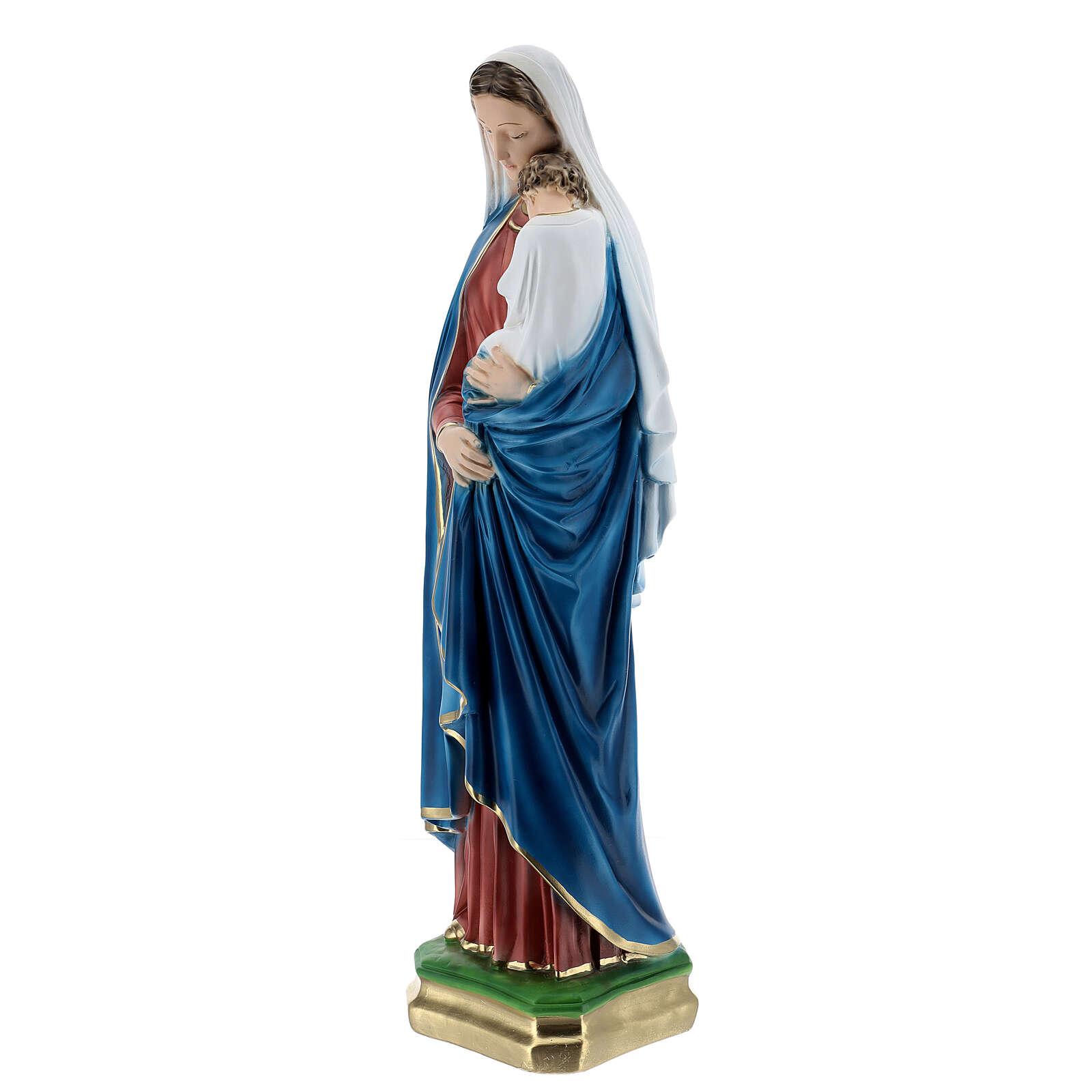 Madonna con bambino gesso 60 cm  4