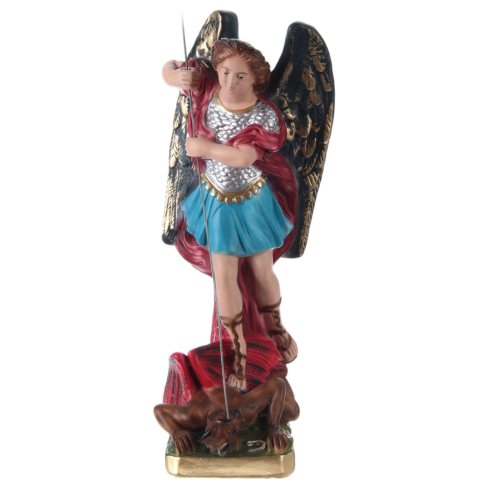 Estatua de yeso San Miguel 30 cm 4