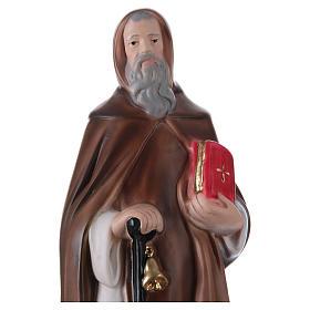 Sant'Antonio Abate in gesso 30 cm  s2