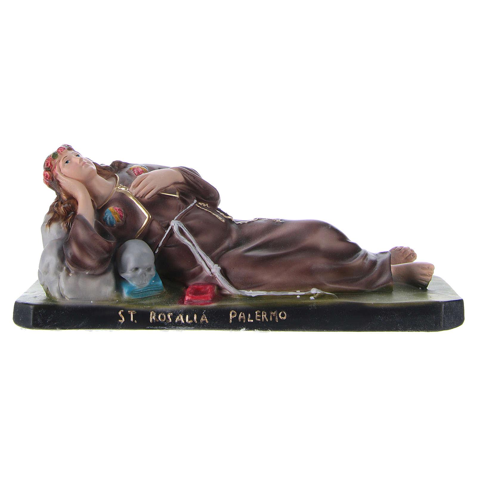 St Rosalie lying down 12x30x10 cm in plaster 4