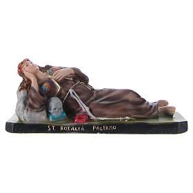 Imagens em Gesso: Santa Rosália deitada 12x30x10 cm gesso
