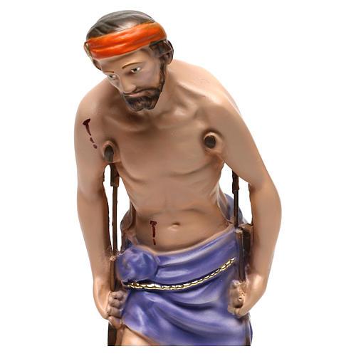 Estatua de yeso San Lazaro 30 cm 2