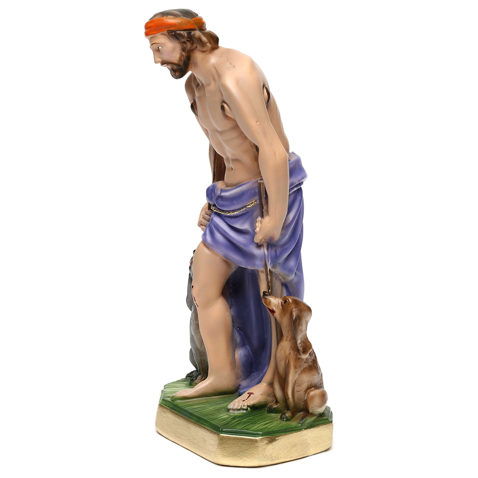 Saint Lazarus Statue, 30 cm in plaster 4