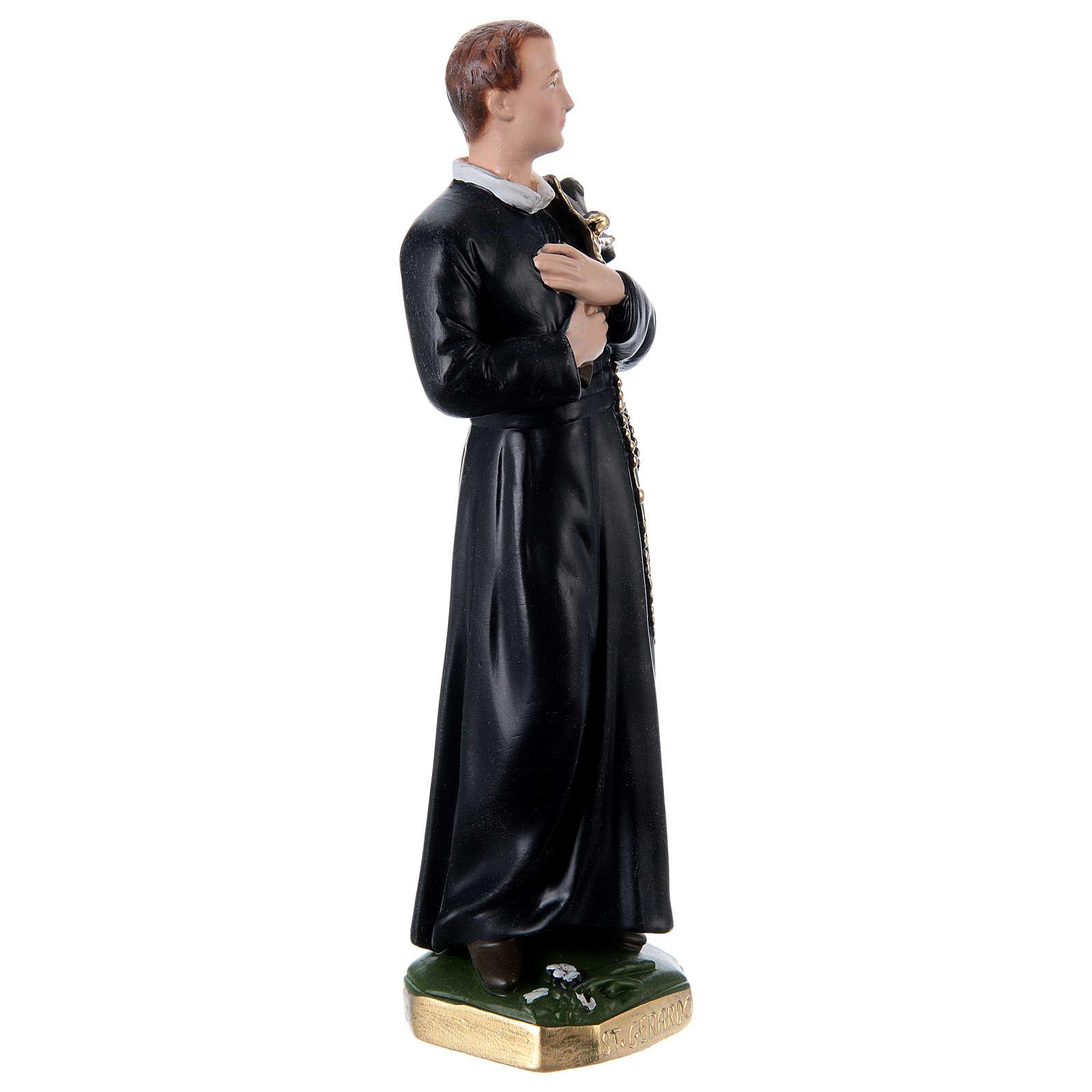 Estatua de yeso nacarado San Gerardo 30 cm 4