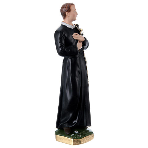 Estatua de yeso nacarado San Gerardo 30 cm 3