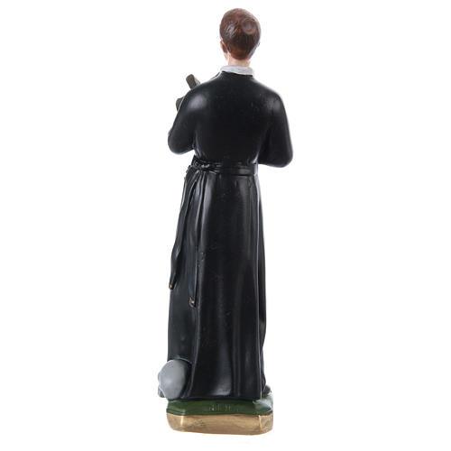 Statue plâtre nacré Saint Gérard 30 cm 4
