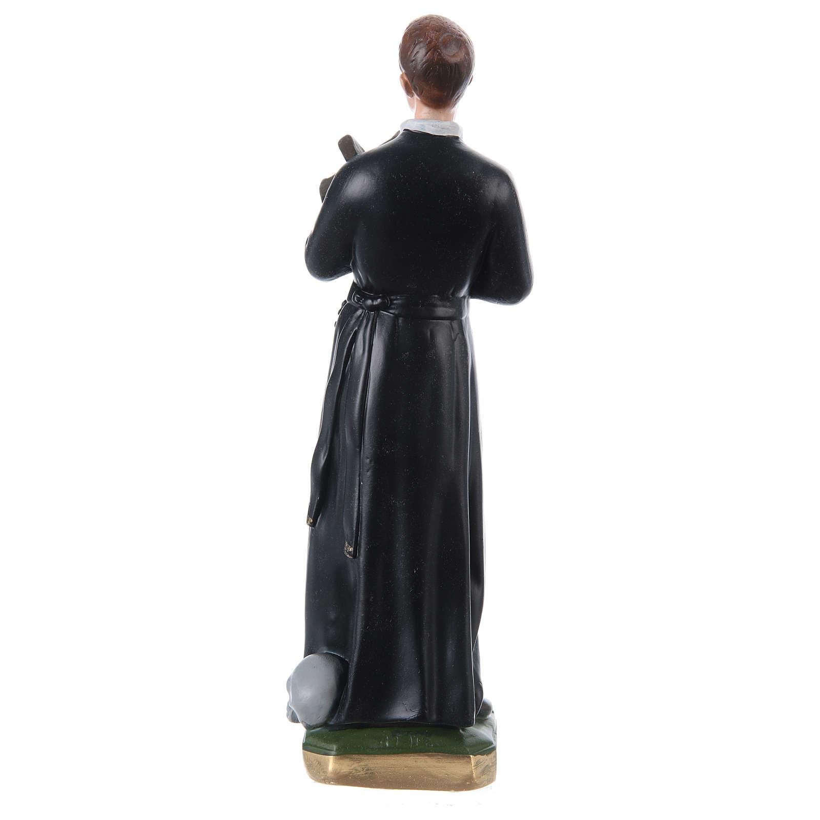 Statua gesso madreperlato San Gerardo 30 cm 4