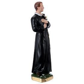 Statua gesso madreperlato San Gerardo 30 cm s3