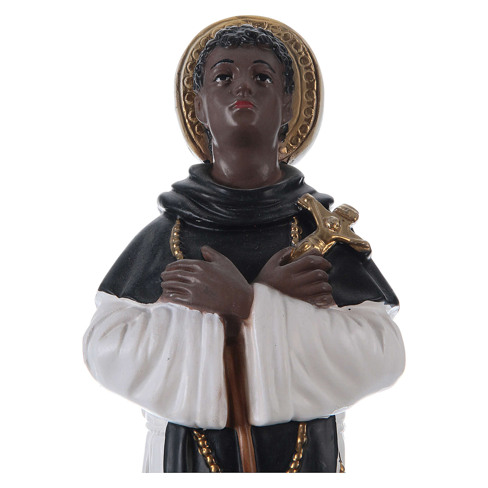 San Martín de Porres yeso 30 cm 4