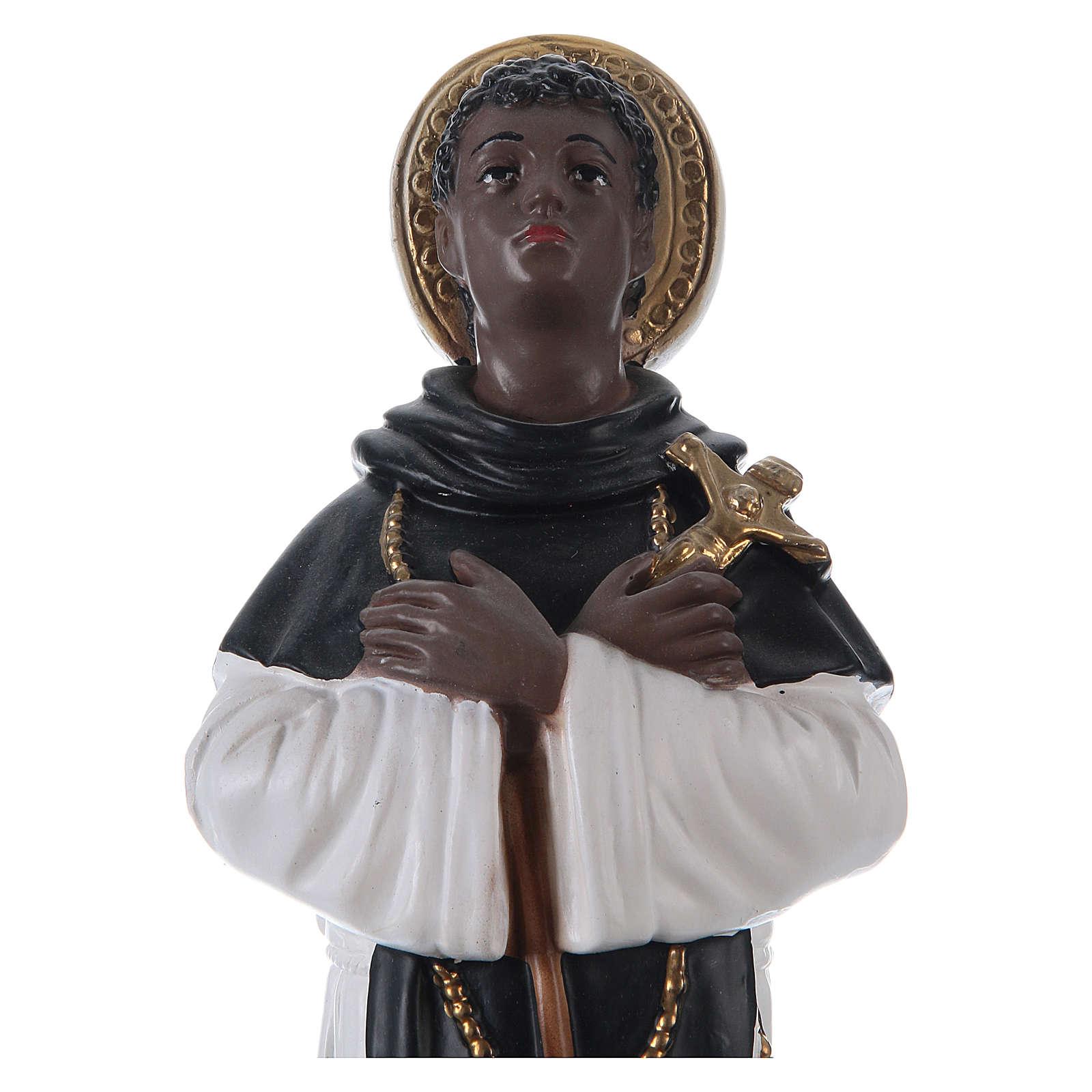 San Martino di Porres gesso 30 cm 4