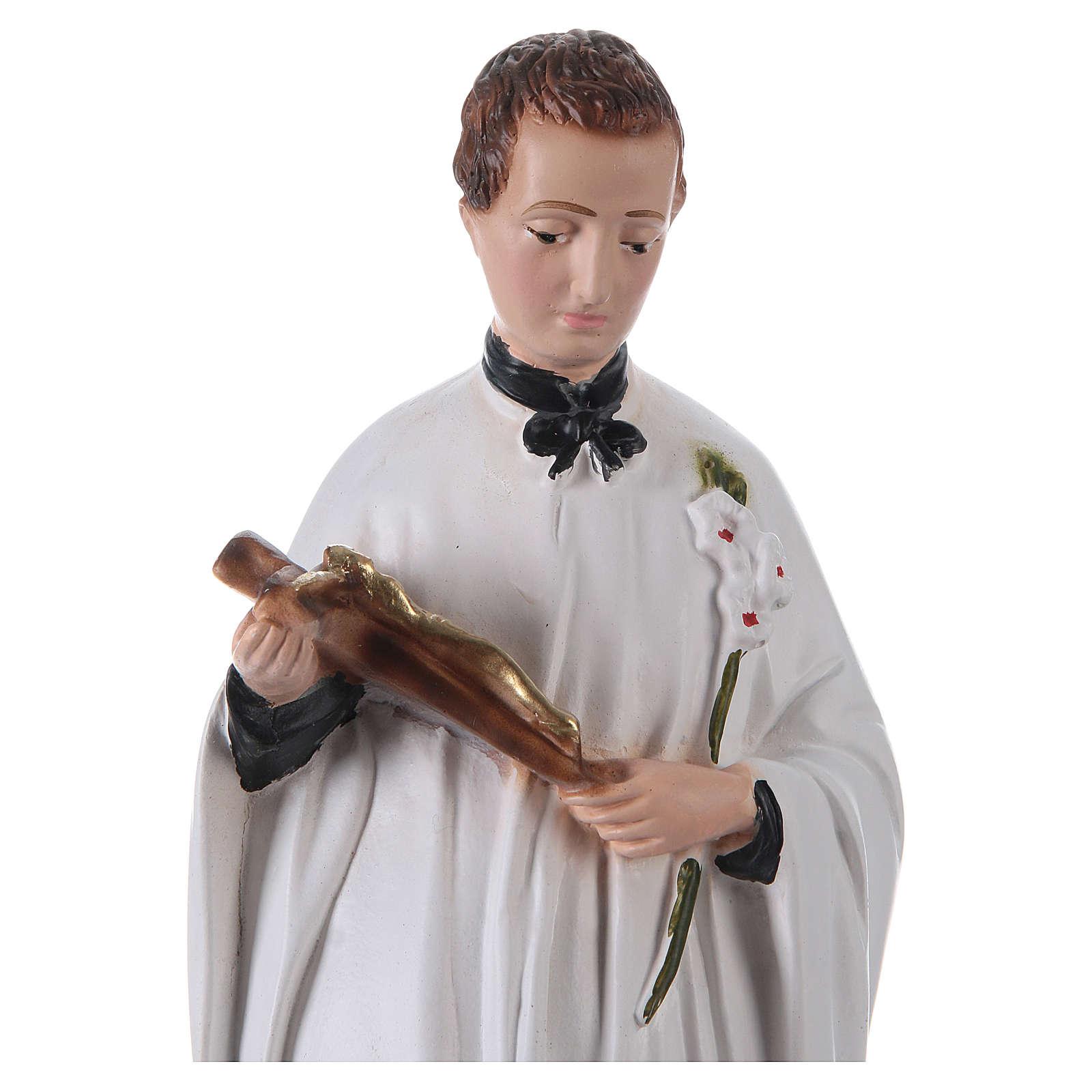 Statue Saint Louis de Gonzague plâtre h 30 cm 4